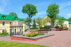 Kompleks budynki poprzedni jezuita collegium teraz - Polotsk stanu uniwersytet, Białoruś Obraz Royalty Free