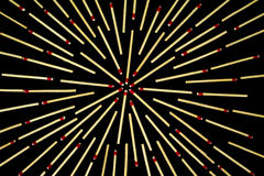 Kompleks gwiazdy projekt z dopasowaniami, odosobnionymi Zdjęcia Royalty Free