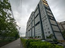 Kompleks mieszkaniowy w Japonia zdjęcia royalty free