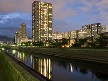 Kompleks mieszkaniowy w Japonia zdjęcie stock
