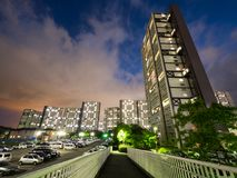 Kompleks mieszkaniowy w Japonia zdjęcie royalty free