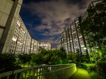 Kompleks mieszkaniowy w Japonia fotografia stock