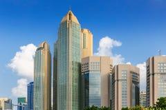 Kompleks nowożytni budynki w Abu Dhabi w Abu Dhabi, Zlany Ar Zdjęcia Stock