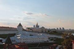 Kompleks poprzedni Przelotowy więzienie Kazan Kremlin Tatarstan, Rosja Zdjęcia Royalty Free