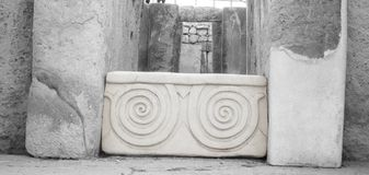 Kompleks Tarxien świątynia | Spirala zdjęcia stock