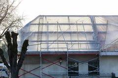 Komplette Dacherneuerung stockfoto