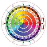 Kompletterande färga rullar för vektorkonstnärer Arkivfoton
