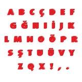 Komplettes Alphabet eingestellt, wie über Weiß durchlöchert Lizenzfreie Stockfotografie