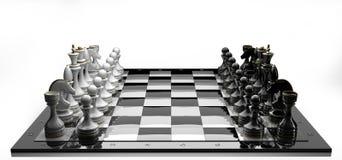 Komplettes Set Schachstücke Lizenzfreie Stockfotografie