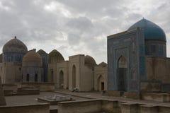 Komplex av mausoleumschah-jag-Zinda, Samarkand, Uzbekistan Arkivfoto