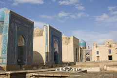 Komplex av mausoleumschah-jag-Zinda, Samarkand, Uzbekistan Arkivfoton