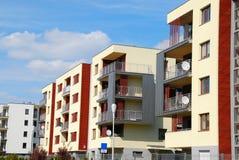 Komplex av moderna lägenheter Royaltyfria Foton