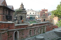Komplex för hinduisk tempel, Katmandu, Nepal arkivbilder