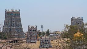 Komplex för hinduisk tempel på Madurai Royaltyfria Bilder