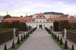 Komplex för Wien Österrike Belvedereslott royaltyfri bild