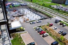 Komplex konstruktionsplats i staden av Terrebonne, Quebec, Kanada Arkivfoto
