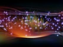 Komplex ljus våg stock illustrationer