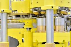 Komplex överföring av tillverkningsmaskinen Royaltyfri Fotografi