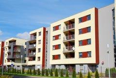 Komplex von modernen Wohnungen Stockbilder