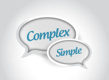 komplexa eller enkla meddelandebubblor Arkivfoto