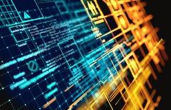 Komplexa futuristiska informationsdata arkivfoton