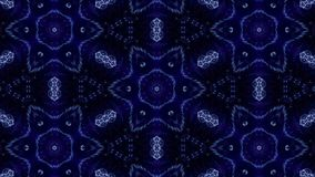 Komplexe blaue Zusammensetzung von Partikeln bilden eine periodische Struktur Animation der Schleife 3d mit Partikeln als Science lizenzfreie abbildung