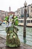 Komplexe grüne venetianische Verkleidung stockbilder
