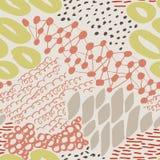 Komplexe Hand gezeichnete Kreise und Dots Vector Seamless Pattern Lizenzfreies Stockbild