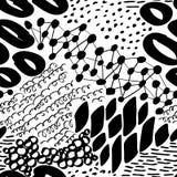 Komplexe Hand gezeichnete Kreise und Dots Vector Seamless Pattern Stockfotografie