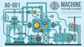 Komplexe industrielle Maschine lizenzfreie abbildung