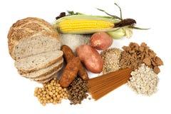 Komplexe Kohlenhydrat-Nahrungsmittelquellen lizenzfreies stockfoto