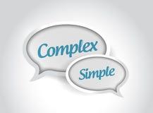 komplexe oder einfache Mitteilungsblasen Stockfoto