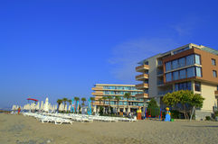 Komplexe Strandansicht der Ferien, Elenite Bulgarien Lizenzfreies Stockbild