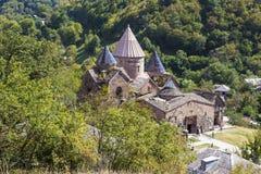 Komplexe XII-XIII Jahrhunderte des Goshavank-armenischen mittelalterlichen Klosters im Dorf von Mann stockfotografie