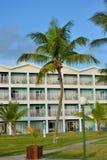 Komplexer Block des Hotels mit palmn Baum Lizenzfreies Stockfoto
