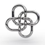Komplexer Knoten Metallrohre Lizenzfreies Stockfoto