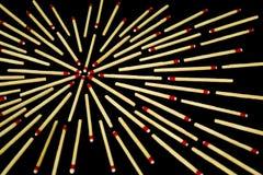 Komplexes Sterndesign mit Match, von der Seite, lokalisiert Stockfotos