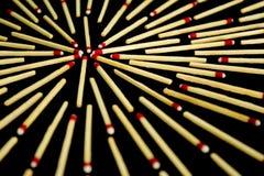 Komplexes Sterndesign mit Match, wenn die Perspektive, lokalisiert ist Stockfotografie