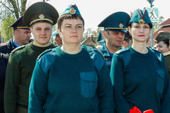 Komplexet av händelser som är hängivna till den 30th årsdagen av den Tjernobyl olyckan i den Gomel regionen av Republiken Vitryss Arkivbilder