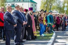 Komplexet av händelser som är hängivna till den 30th årsdagen av den Tjernobyl olyckan i den Gomel regionen av Republiken Vitryss Royaltyfria Bilder