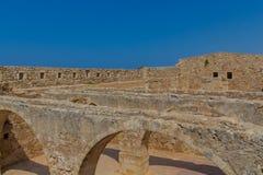 Komplexet av tidskrifter i Fortezza av Rethymno Royaltyfria Foton