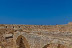 Komplexet av tidskrifter i Fortezza av Rethymno Arkivfoton