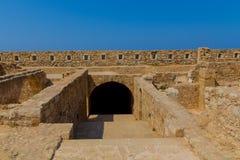 Komplexet av tidskrifter i Fortezza av Rethymno Royaltyfri Bild