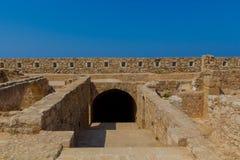 Komplexet av tidskrifter i Fortezza av Rethymno Royaltyfri Fotografi