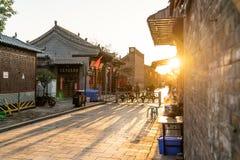 Komplexet för forntida stad av pingyaoen, Shanxi landskap, Kina royaltyfri bild