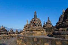 Komplexet för forntida tempel av Borobudur Royaltyfria Bilder