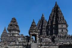 Komplexet för forntida tempel av Prambanan Arkivbilder