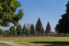 Komplexet för forntida tempel av Prambanan Fotografering för Bildbyråer