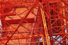 Komplexitet av Tokyo tornkonstruktion Fotografering för Bildbyråer