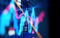 Komplext aktiemarknadljusstakediagram vektor illustrationer